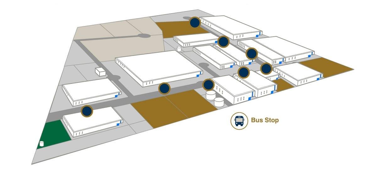 Bus stop - AeroTech Industrial Park - Querétaro