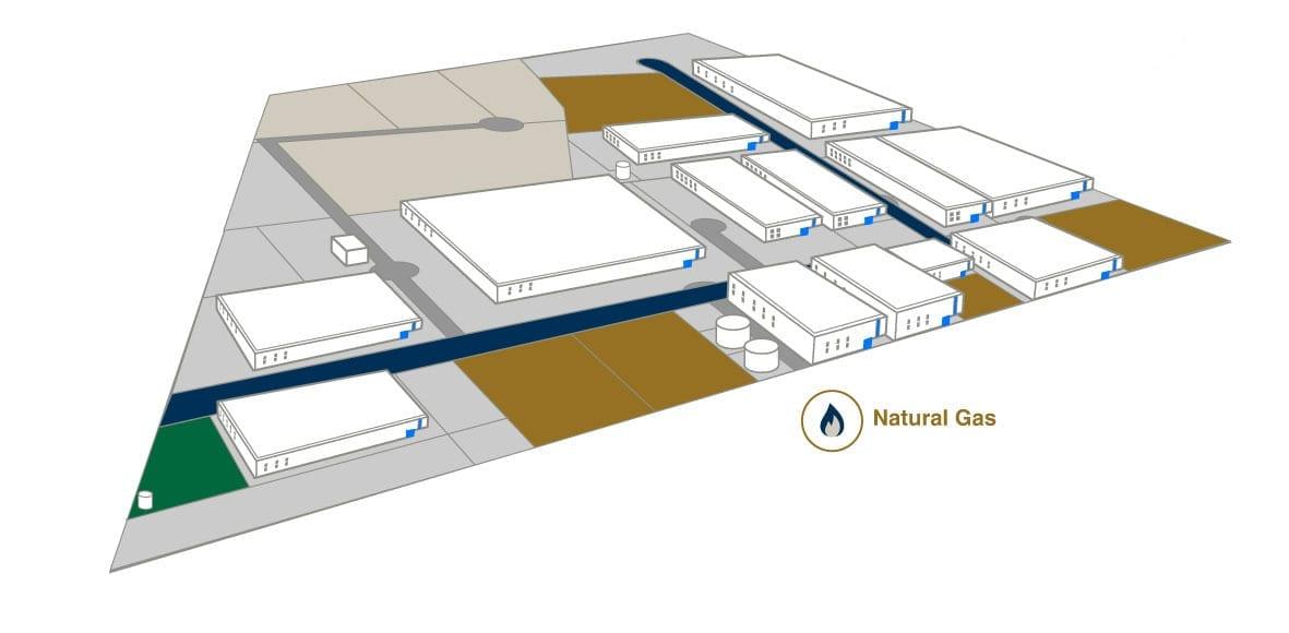 Natural gas - AeroTech Industrial Park - Querétaro