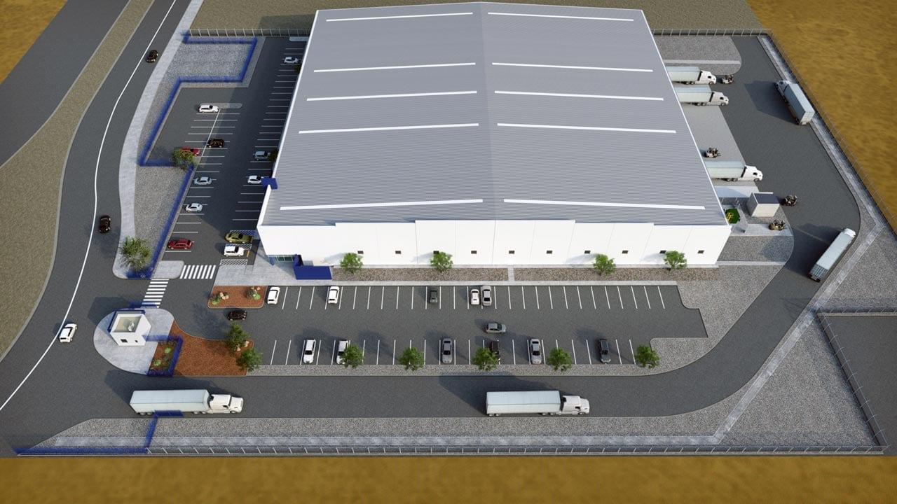 American Industries - Parquesur Industrial León Guanajuato Warehouse air view